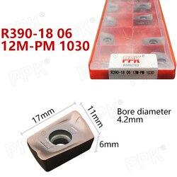 10 sztuk oryginalny marka R390-18 06 12M-PM 1030 narzędzie tokarskie CNC R390-18 06 12M-MM 2040 wkładki z węglików spiekanych