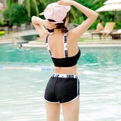 Новый женский купальник из тюля, кружевной раздельный купальник из трех частей, сексуальное пляжное бикини 3