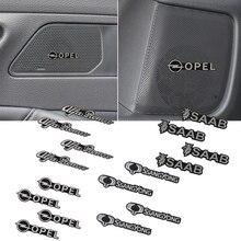 4 pièces de voiture en aluminium de haut-parleur 3D autocollant sonore autocollants Pour Audi A1 A2 A3 A4 A5 A6 A7 A8 C5 C6 Q2 Q3 Q5 Q7 R8 S3 S5 S6 S7
