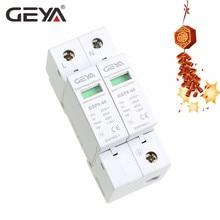 цена на GEYA GSP8-2P Din Rail Surge Protection Device 2P AC275V AC385V 20KA-40KA Lightning Surge Protector AC SPD