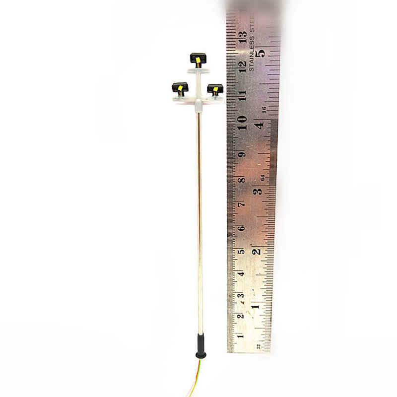 3 led lampa uliczna 1:100 Ho skala lampa uliczna led sceneria Mini Lamppost do piasku model stołu 3