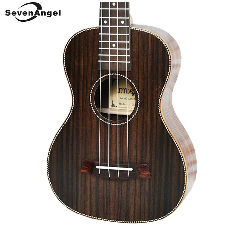SevenAngel 26 pouces ténor acoustique ukulélé tout palissandre hawaïen 4 cordes guitare électrique Ukelele avec pick-up EQ AQUILA String