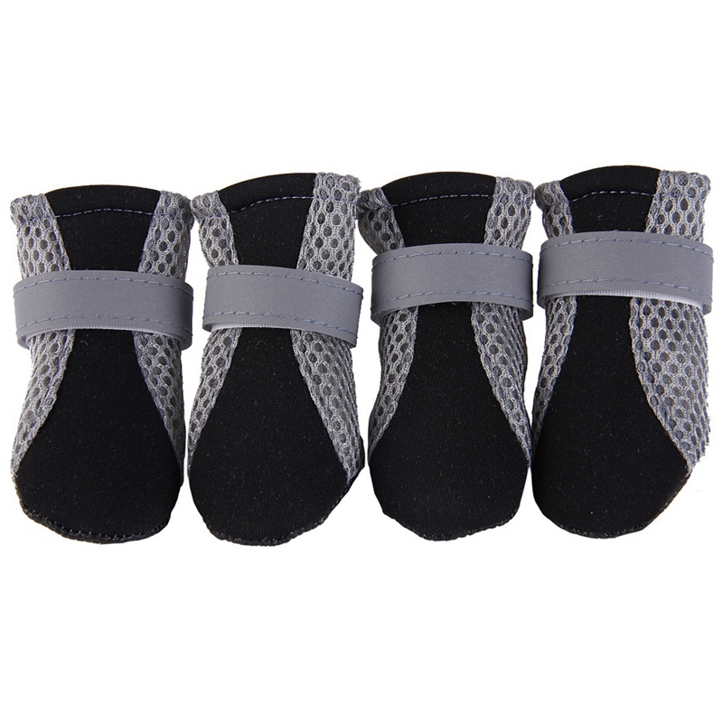 Winter Warm Soft Cashmere Anti-skid Reflective boots for Pet Dogs