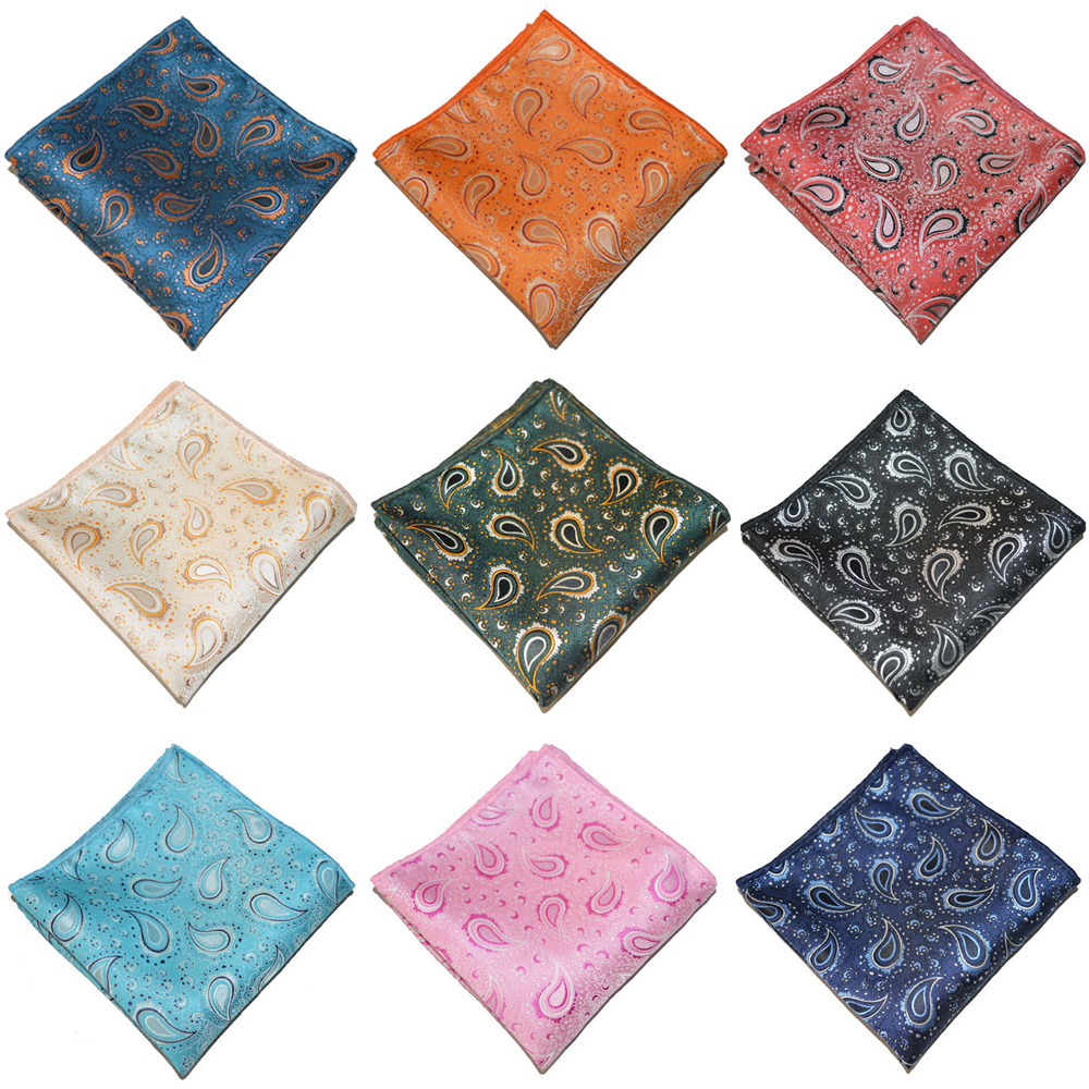 Men's Business Handkerchief Paisley Printed Hanky Pocket Square Wedding Party YXTIE0335