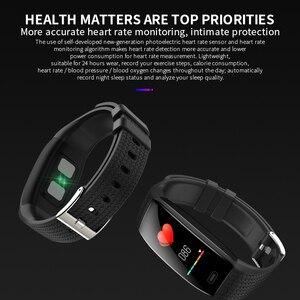 Image 5 - Lerbyee 2020 חכם שעון T5 גוף טמפרטורה עמיד למים כושר שעון שיחת תזכורת ספורט מצב Smartwatch ספורט גברים נשים חמה