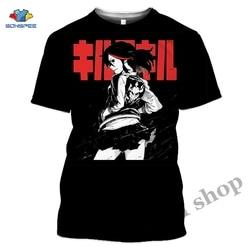 Anime 3d nadruk, Game koszulka z krótkim rękawem Streetwear mężczyźni Top Cartoon Kill La Kill moda damska koszulka Harajuku dla dzieci koszule Homme Tshirt A192