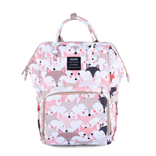 Swan Fox Printed Diaper Bag Mummy Backpack Maternity Nappy Changing Bags Large Capacity Waterproof Nursing Wet Bag For Baby Care