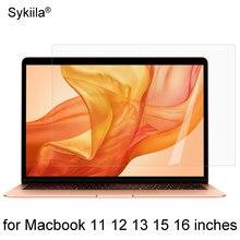 Protetor de tela hd para macbook ar 13 11 pro 13 15 16 barra de toque 12 plástico transparente transparente filme adesivo a2179 a2337 a2338 pet