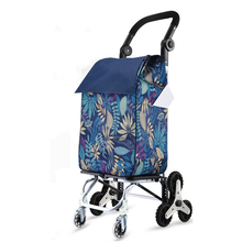 Stair-Cart Folding with Rolling-Swivel Wheels Waterproof Removable Canvas-Bag Grocery