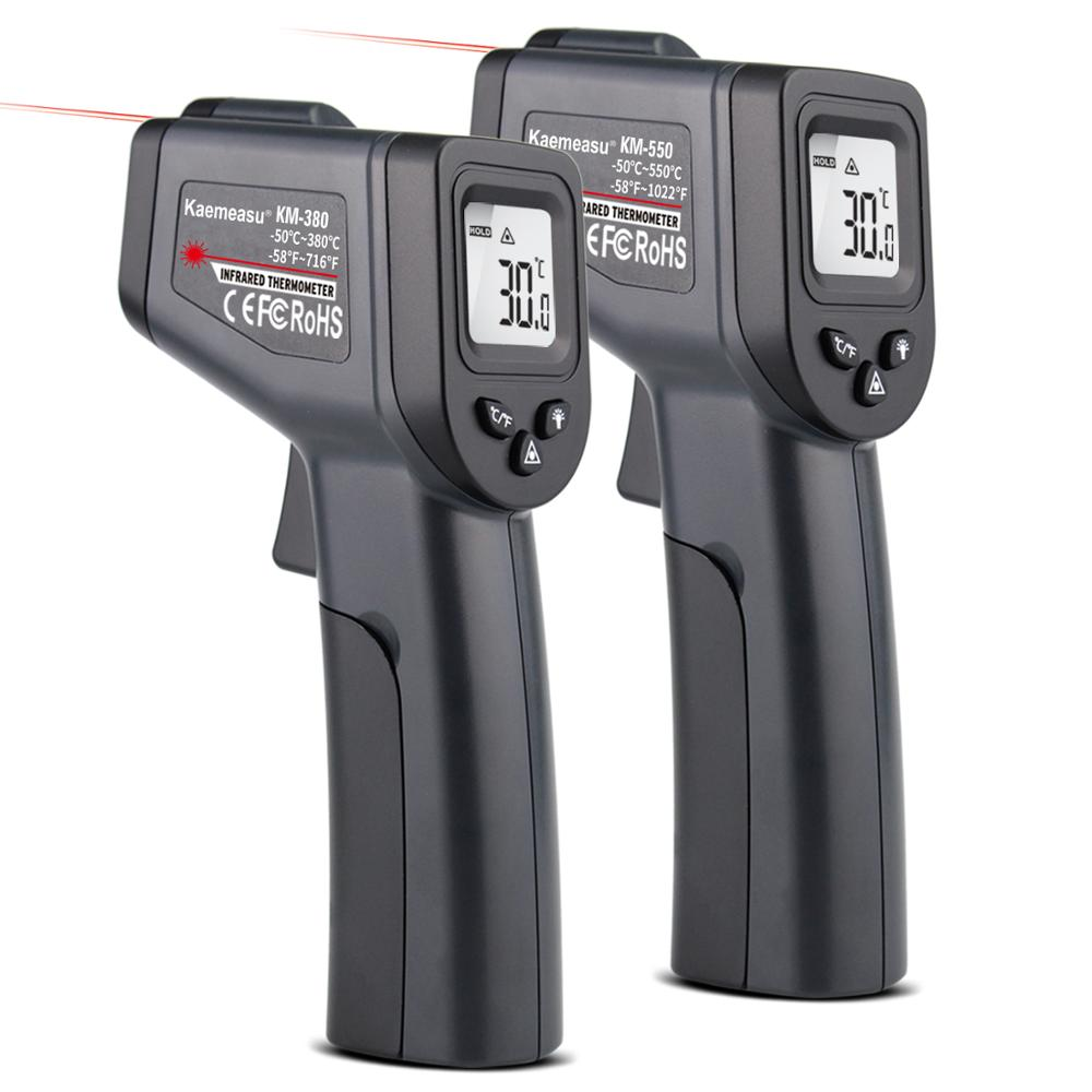 -50-380/550 Degree Handheld Digital Infrared Thermometer Non-Contact Laser LCD Display IR Temperature Gun Instruments
