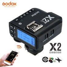 Godox X2T 2,4G ttl Беспроводной триггер для вспышки HSS 1/8000 передатчик X2T C X2T N X2T S X2T F X2T O для цифровой зеркальной камеры Canon Nikon sony фужи Олимпус