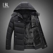 Новинка, мужская куртка, пальто, утолщенная теплая зимняя ветрозащитная куртка, повседневная мужская пуховая парка с капюшоном, верхняя одежда, хлопковая стеганая куртка