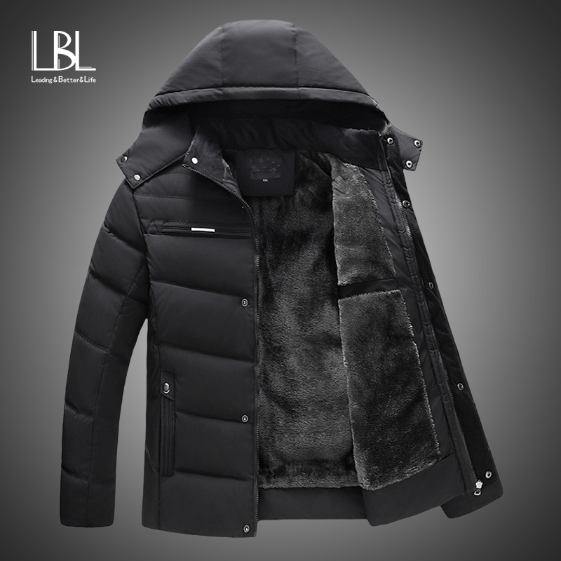 New 2018 Men Jacket Coats Thicken Warm Winter Windproof Jackets Casual Mens Down Parka Hooded Outwear Cotton-padded Jacket