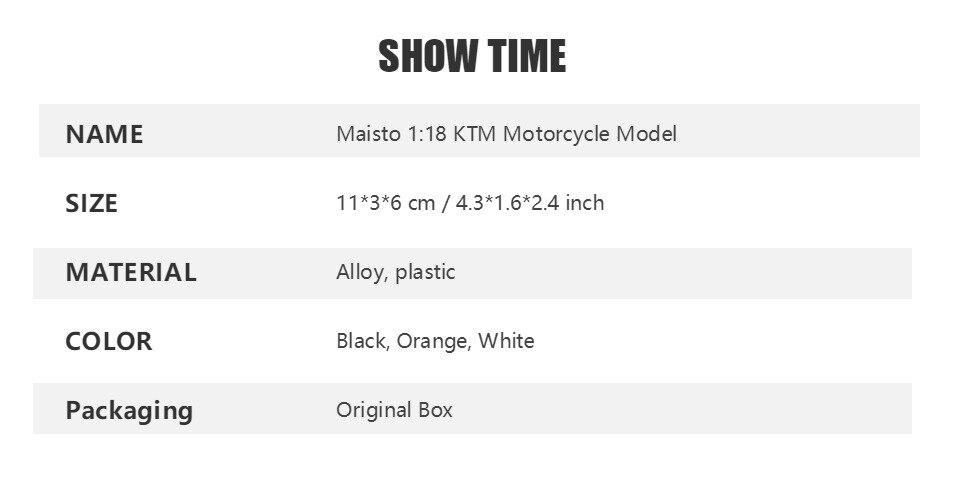 Toy KTM RC 390 Motorbike 11x3x6 cm 40