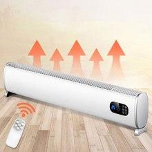 Электрический плинтусный обогреватель бытовой обогреватель энергосберегающий нагрев скорость термоэлектрический радиатор офисный пульт дистанционного управления конвекцией