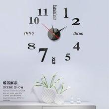 2020 обновленные настенные часы 3d diy акриловые зеркальные