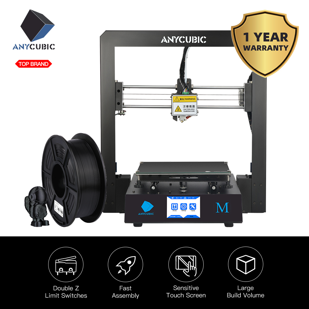 ANYCUBIC 3d-Printer-Kit Color-Screen Full-Metal-Frame Plus-Size I3 DIY Mega Impressora title=