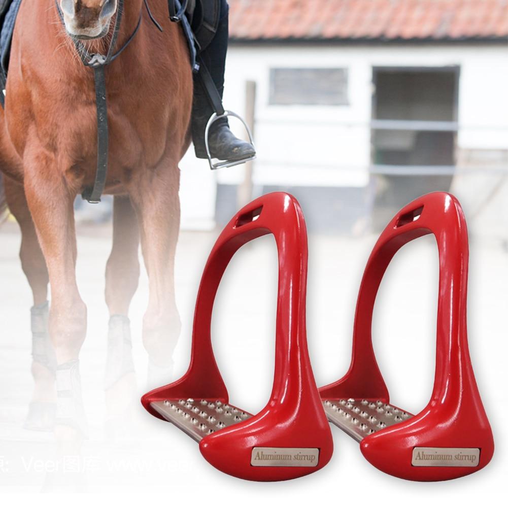 1 Pair Horse Stirrups Aluminium Alloy Pedal Supplies Riding Equipment Anti Slip Lightweight Saddle Equestrian Safety Treads