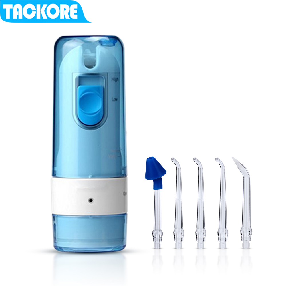 Tackore AR-W-06 Dental Flosser Water Floss Oral Irrigator With 5 Jet Tips Hygiene USB rechargeable water flosser