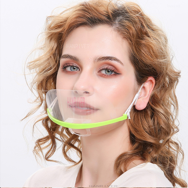 Transparent face mask for catering special anti-fog spray saliva chef spit food hotel plastic kitchen restaurant anti-bacteria f 4