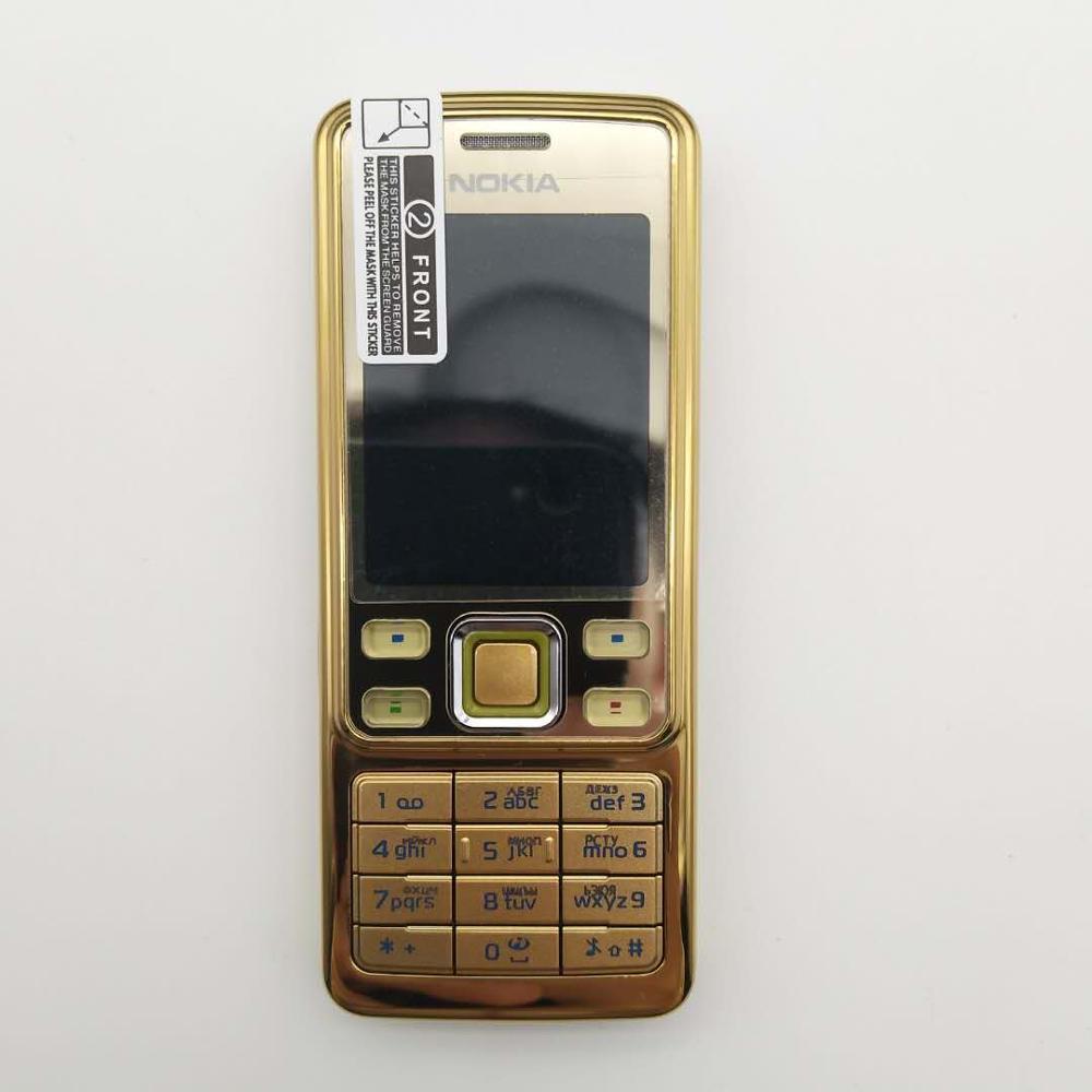 Горячая Распродажа~ разблокированный мобильный телефон Nokia 6300 разблокированный 6300 FM MP3 Bluetooth мобильный телефон один год гарантии - Цвет: Золотой