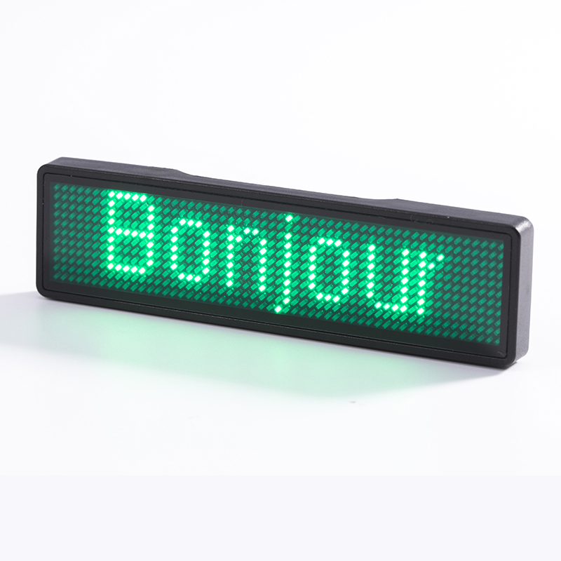 Advertising DIY LED Badge Editable Scrolling Running Text Mini LED Display Event Hotel Bar  Cafe Taxi Restaurant LED Name Sign