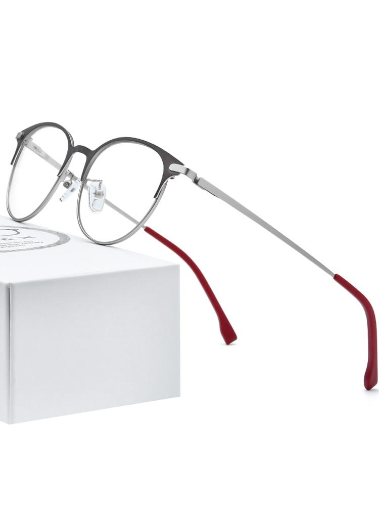 FONEX Prescription Eyeglasses Screwless-Eyewear Ultralight Round Retro Vintage Women