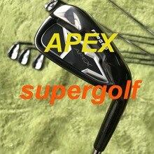 2020 nowe żelazka do golfa czarne żelazka APEX kute (3 4 5 6 7 8 9 P) z dynamicznym złotem S300 wał stalowy 8 sztuk kluby golfowe