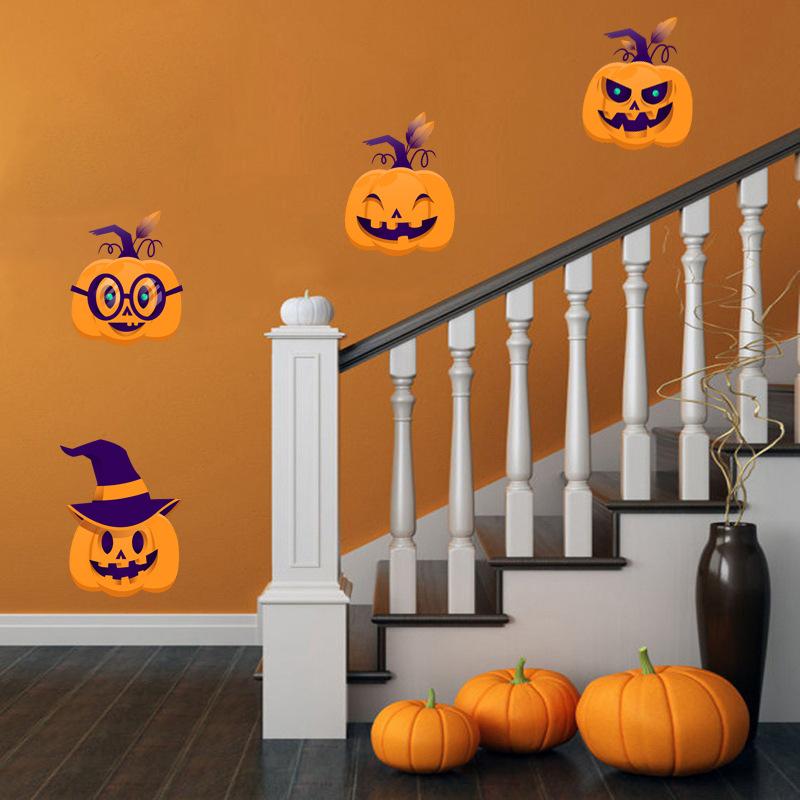 Wall-StickersHalloween Pumpkin Decorative Wall Creative Children\'s Room Cartoon Living Decoration