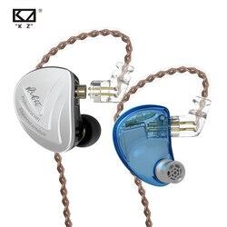 KZ AS16 8BA Drive Unidades de Monitoramento de fone de Ouvido Em Ouvido 8 Armadura Balanceada HIFI Fone de Ouvido fone de Ouvido Com Cabo Destacável 2PIN Separar