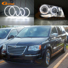 цена на For Chrysler Town Country 2008 2009 2010 2011 2012 2013 2014 2015 2016 Excellent smd led Angel Eyes kit Ultra bright DRL