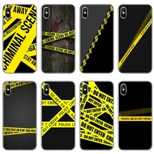 Police DO NOT CROSS Line Phone Case For Sony Xperia Z5 C6 L2 XA1 XA2 XZ1 XZ2 compact Premium LG G5 G6 G7 Q6 Q7 Q8 Q9 V30(China)
