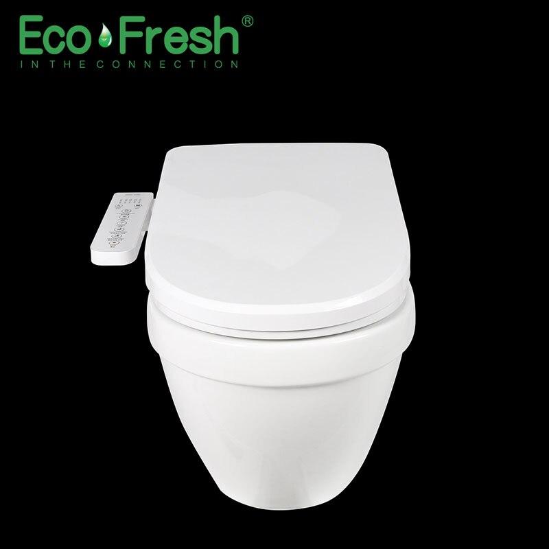 Ecofresh, умное сиденье для унитаза, u образное электрическое биде, сантехника для ванной, УФ антибактериальное автоматическое мытье, подогрев унитаза - 4