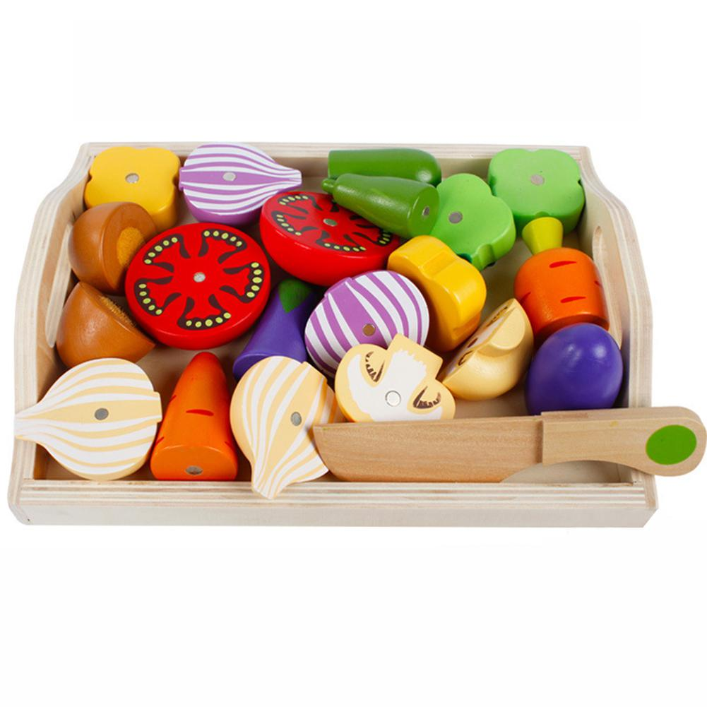 Children Magnetic Cute Kitchen Pretend Play Simulation Fruit Vegetable Kitchenware Cooking Set For Kids