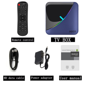 Image 5 - A95X F3 חכם טלוויזיה תיבת RGB אור אנדרואיד 9.0 Amlogic S905X3 4G 32G 64G Wifi BT סט למעלה תיבת Youtube 8 K 4 K Media Player