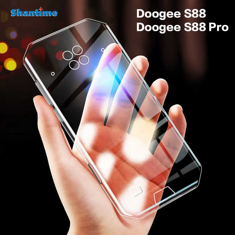 Voor Doogee S88 Case Ultra Thin Clear Soft Tpu Case Cover Voor Doogee S88 Pro Couqe Funda
