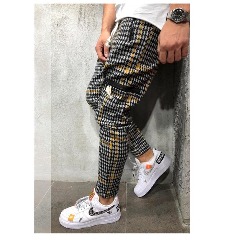 Hot Men's Sweatpants Side Stripe Hip Hop Track Pants  1