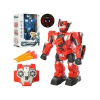 Robot radio controlled, light, sound, shoots, included: