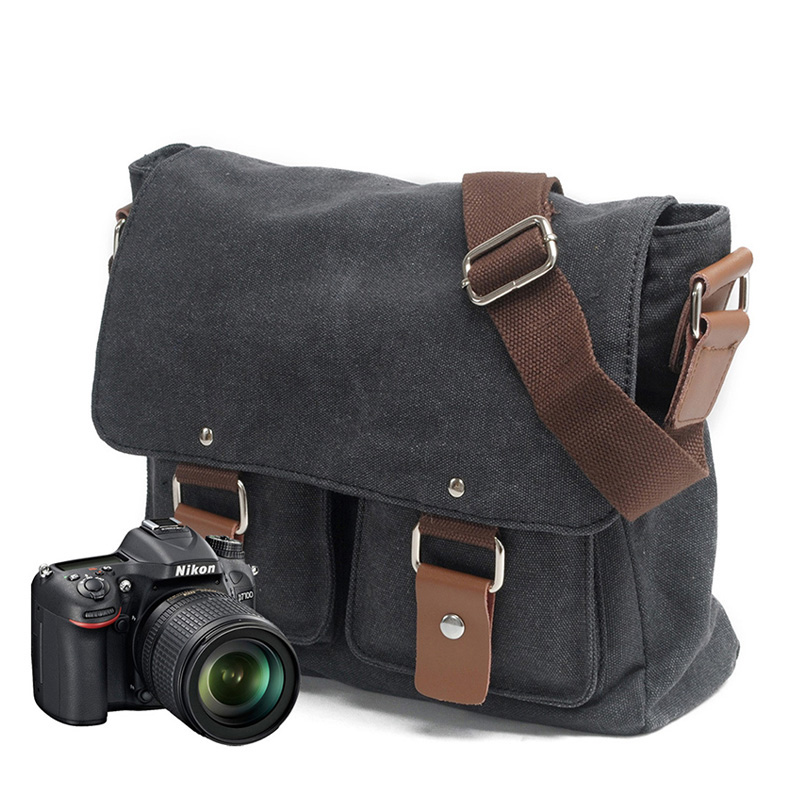 Case Photography Sony Packages Canvas Messenger Dslr-Shoulder Waterproof for Nikon/Canvas/Single/..