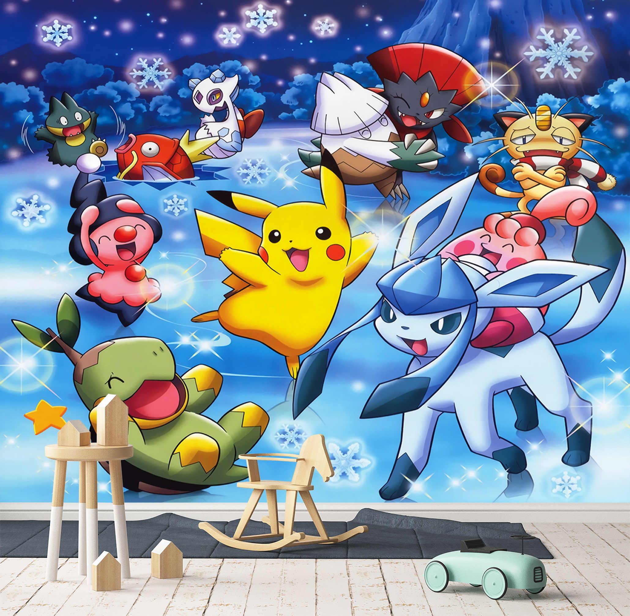 自己粘着 3d ポケモン 313 日本アニメ壁紙壁画壁の壁画印刷デカール壁