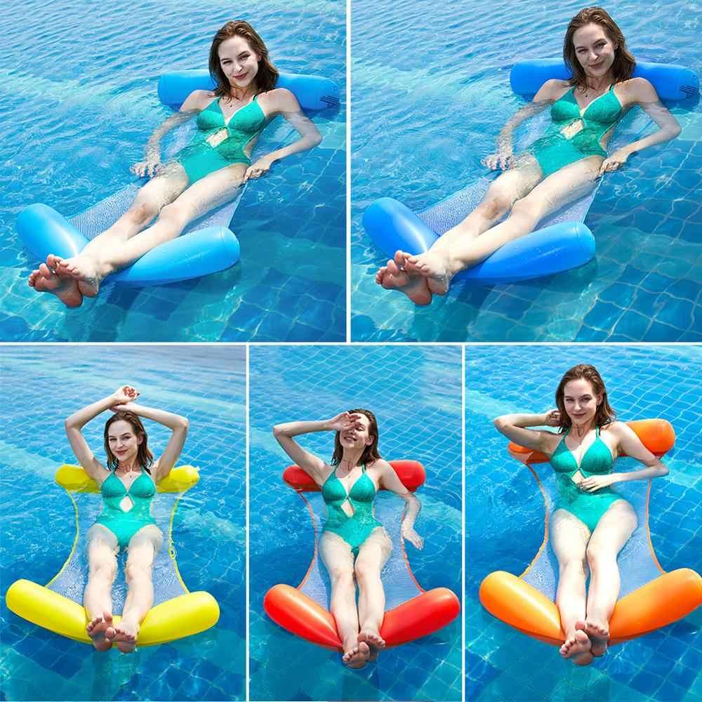 Sommer Wasser Hängematte Faltbare Aufblasbare Luft Matratze Schwimmen Pool Strand Liege Schwimm Schlaf Kissen Bett Stuhl 2020 Heißer