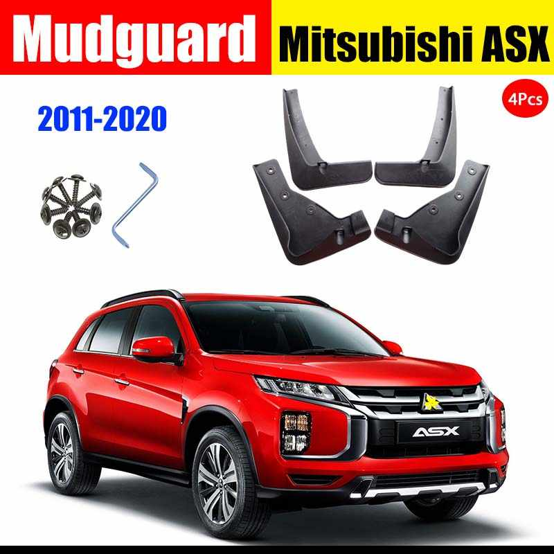 Easy Fit Splash Guards//Fender Flares 4 Pieces Set Car Mudguards For Mitsu bi shi Eclipse Cross 2018 2019 New Black Front And Rear Wide Mudflaps Complete With Mounting Screws