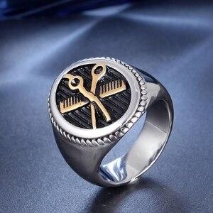 Мужское кольцо из титановой стали, нержавеющая сталь для мальчиков, стальное кольцо для парикмахера