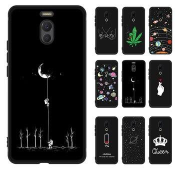 Перейти на Алиэкспресс и купить Противоударный силиконовый чехол для Meizu Note 9 8 16 16X X8 M5C M6 M5S M5 M6 Note 16 Plus Звездный черный окрашенный чехол для телефона