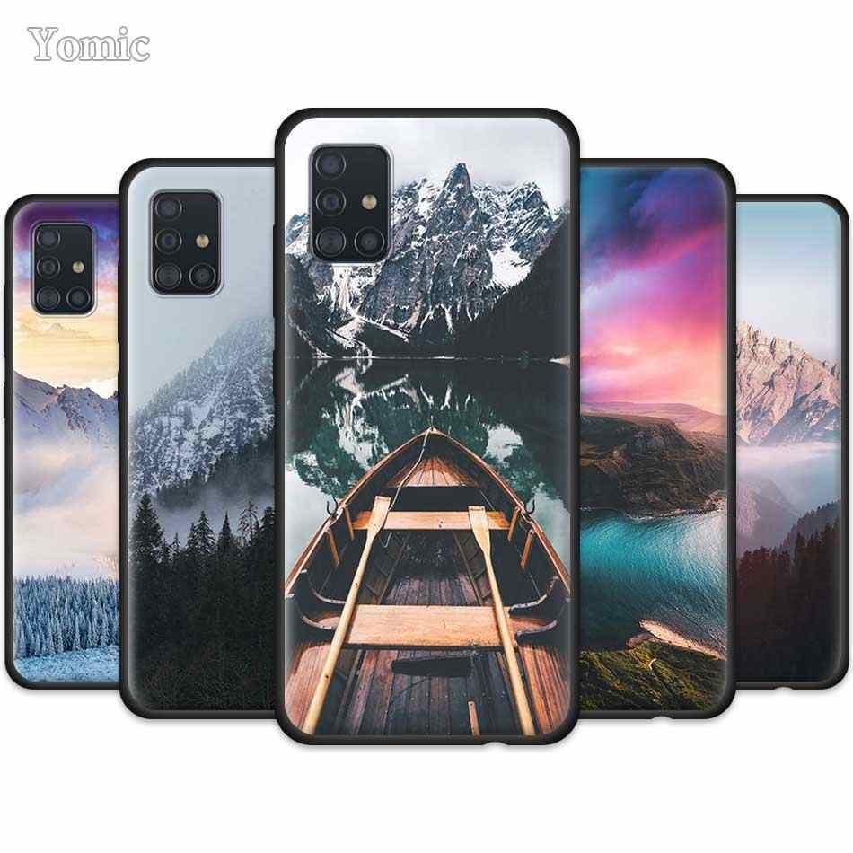 A41 A42 5G case nature A71 5G case Samsung S21 A51 case A52 S21 Plus case mountain case note 10 plus S10 lite case Forest case