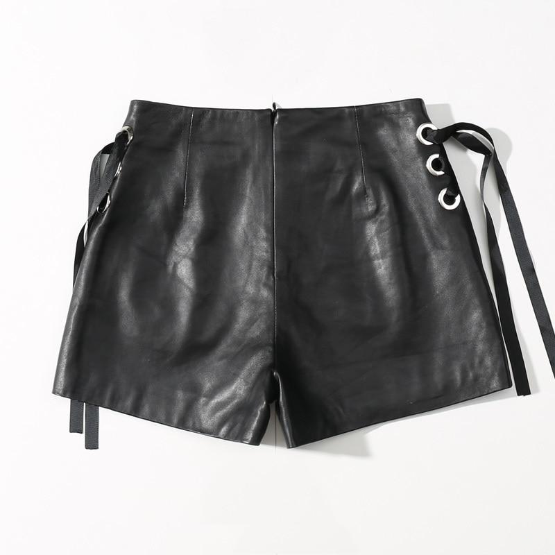 2020 New Arrival Shorts Women Black High Waist Sexy&Club Shorts  Korean High Street Office Lady Leather Streetwear Be Free
