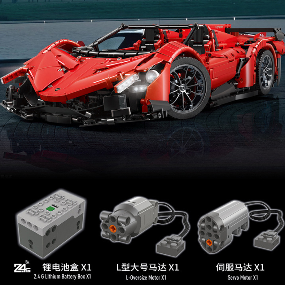 13079 poison RC Car MOC 10559 Veneno Roadster Motor Power Functions Fit App for legoing Technic Building Blocks Bricks Toys Gift 1