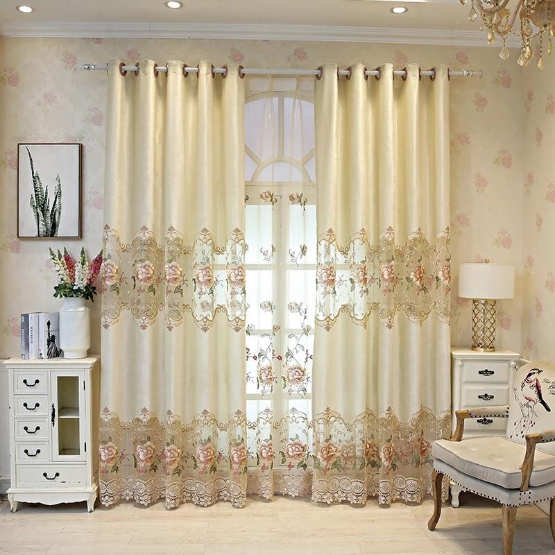 Luxury european curtains velvet curtains for living room Half Shading Curtains Window Treatment drapes Home Decor P321D3