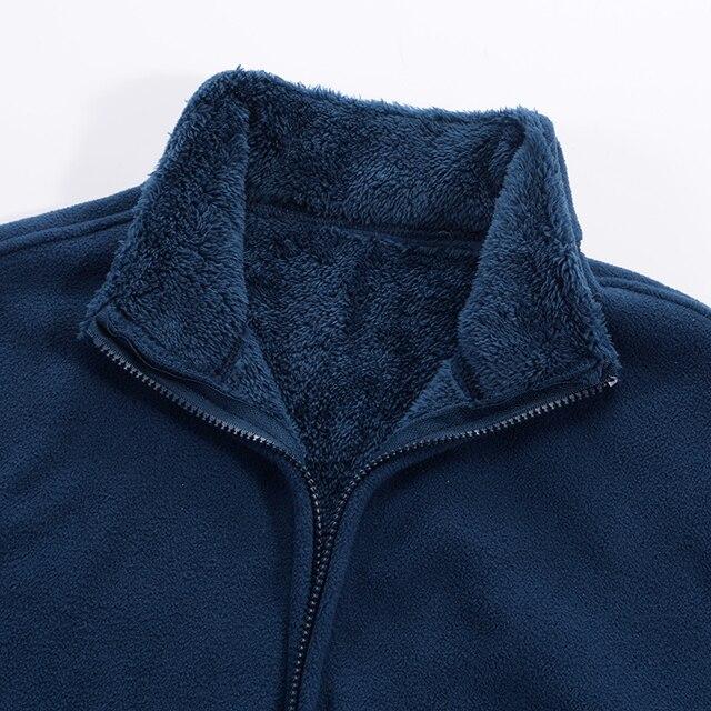 Men's Winter Demi-season Jacket Soft  Fleece Warm 2020 Autumn Windproof Thick Thermal Men Windbreaker Black Coats Bomber Male 6