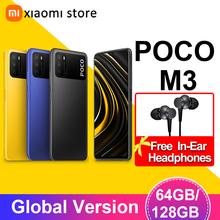 Smartphone POCO M3 4GB 64GB 128GB Xiaomi wersja globalna telefon komórkowy telefon komórkowy telefon komórkowy telefon telefon komórkowy telefon komórkowy poco M 3 tanie tanio Niewymienna CN (pochodzenie) Android Zamontowane z boku Rozpoznawanie twarzy 48Mp 6000 Quick Charge 3 0 USB-PD english Rosyjski